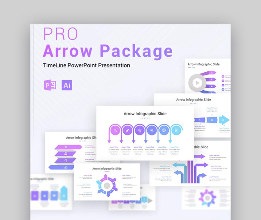 Arrow Infographic Change Management Deck