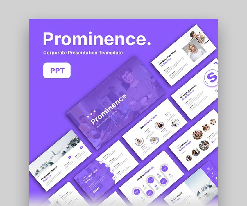 Prominence Change Management PowerPoint Template