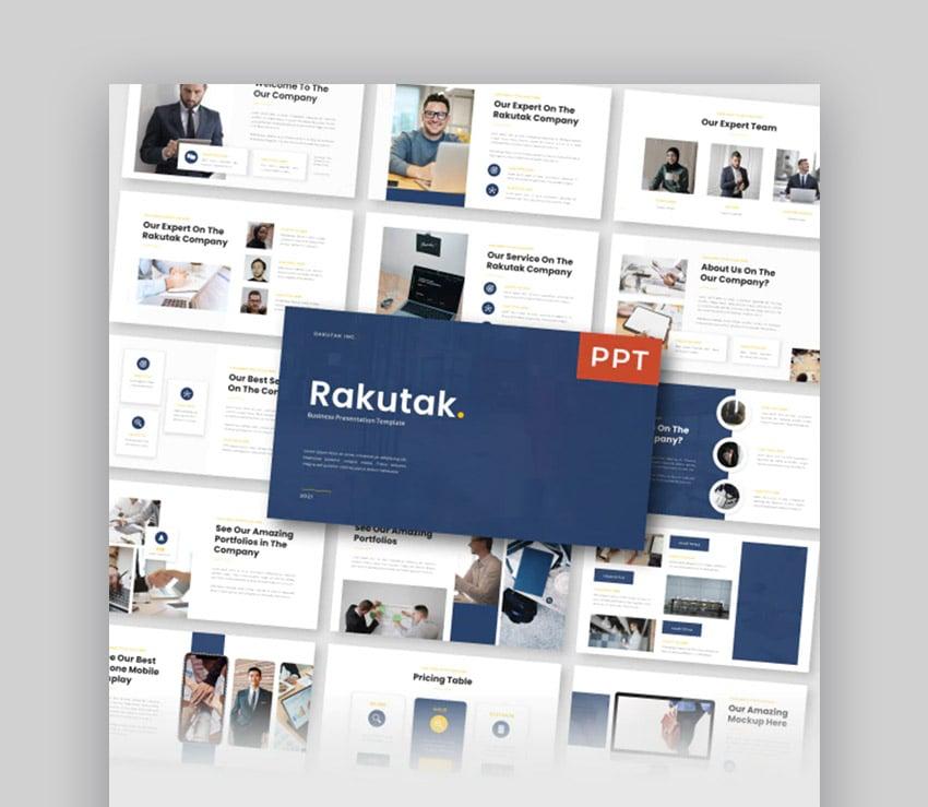 Rakutak Change Management PowerPoint Presentation Template