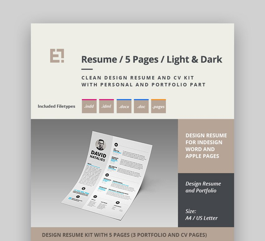 Professional Pages CV Template