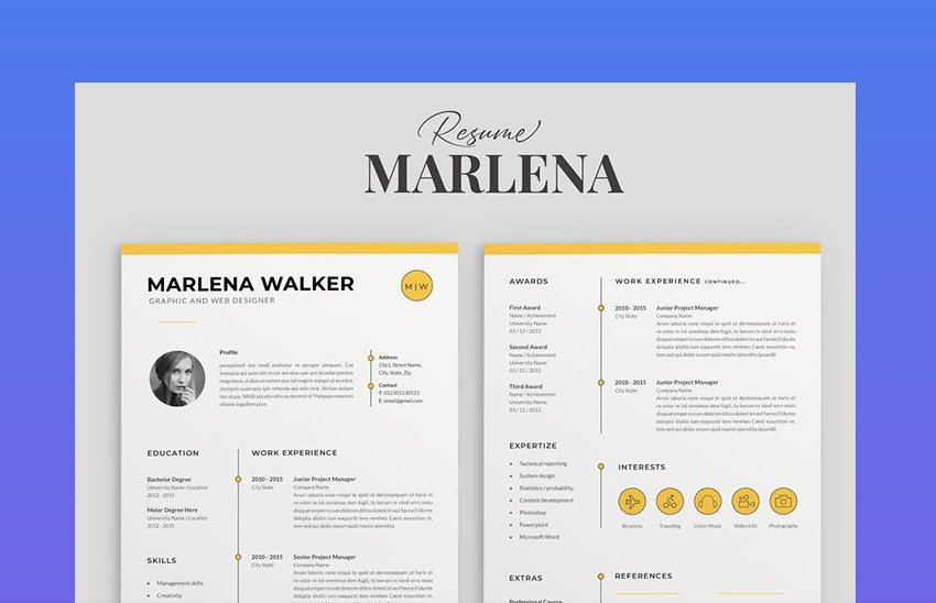 Resume Pages CV Template