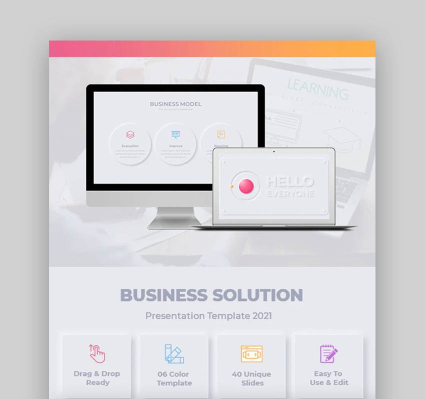 Business Solution Infographic Keynote Template