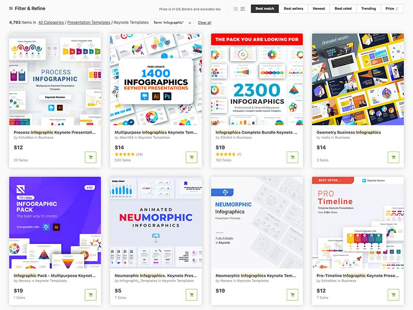 GraphicRiver Keynote Infographic Diagram options