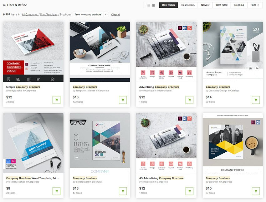 GraphicRiver Company Brochure Template Examples