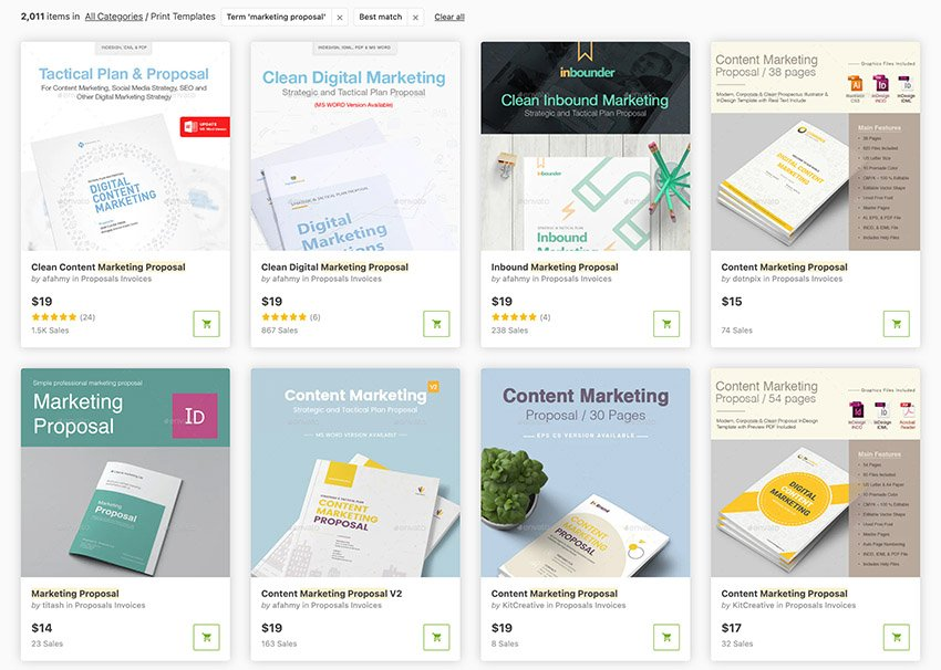 Digital Marketing proposal DOCs and PDFs from GraphicRiver 2021