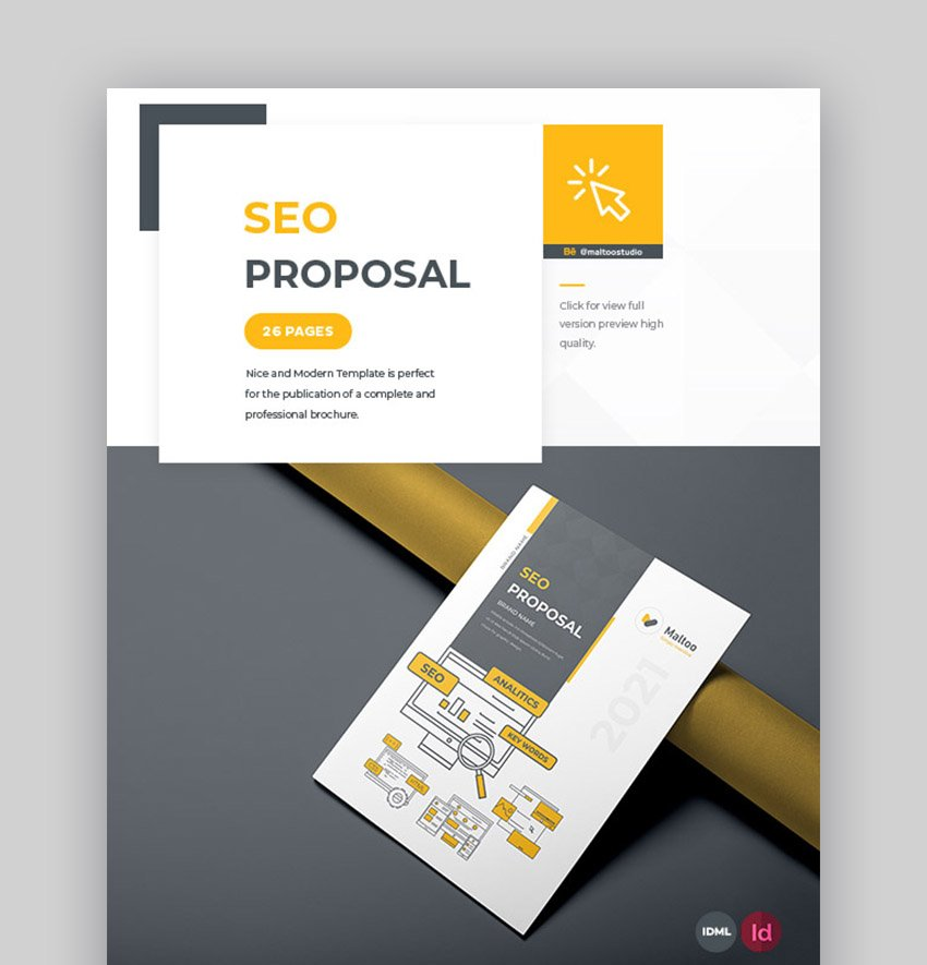 Modern Simple and Minimal SEO Proposal Template