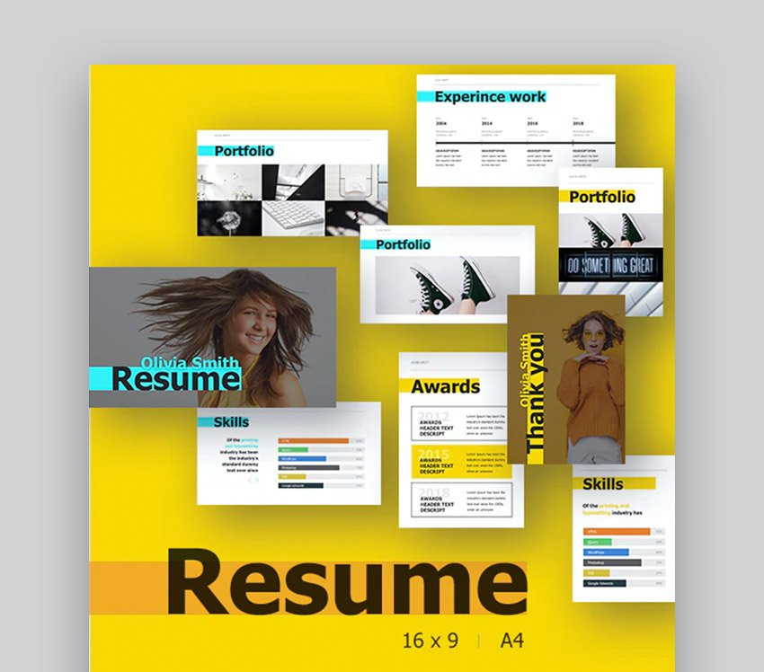 Resume PowerPoint Template Layout