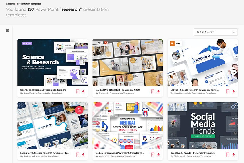 Research PPT Templates from Envato Elements