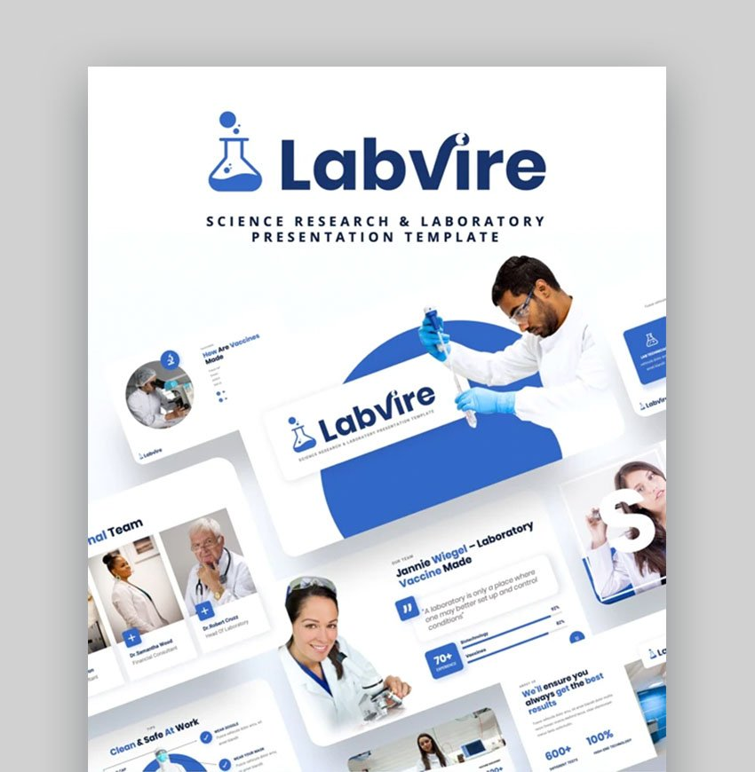 Labvire PowerPoint Template for Research Presentation
