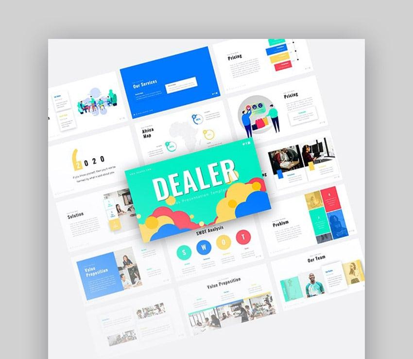 Dealer PPT Sales Presentation Template