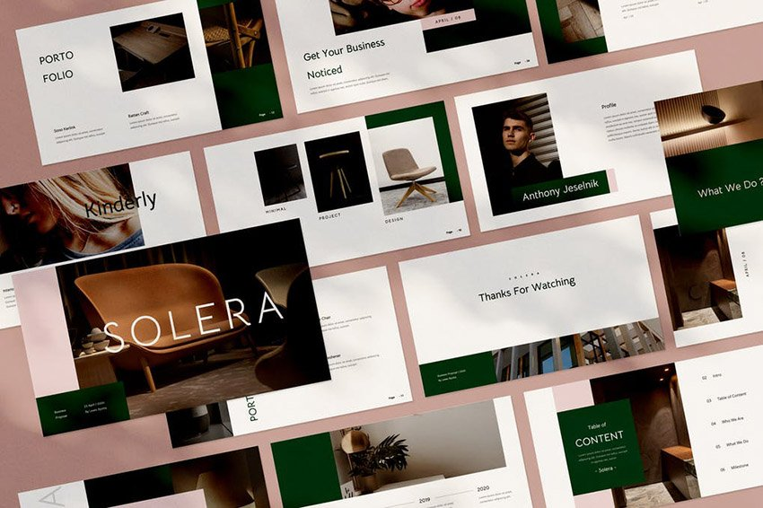 Solera PowerPoint Brochure Template