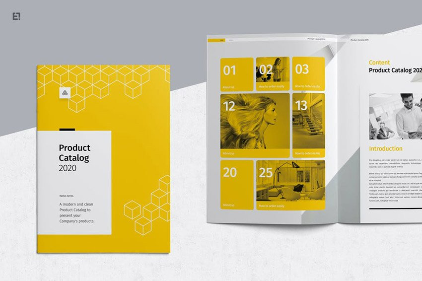 Yellow Product Catalog Template InDesign