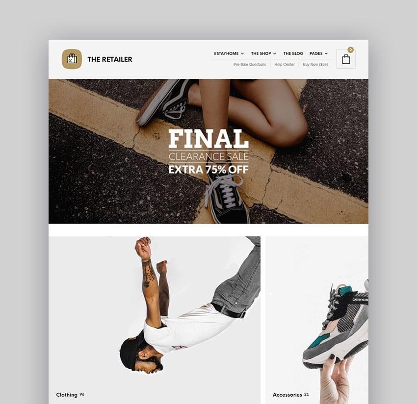 The Retailer Visual Composer WordPress eCommerce Theme