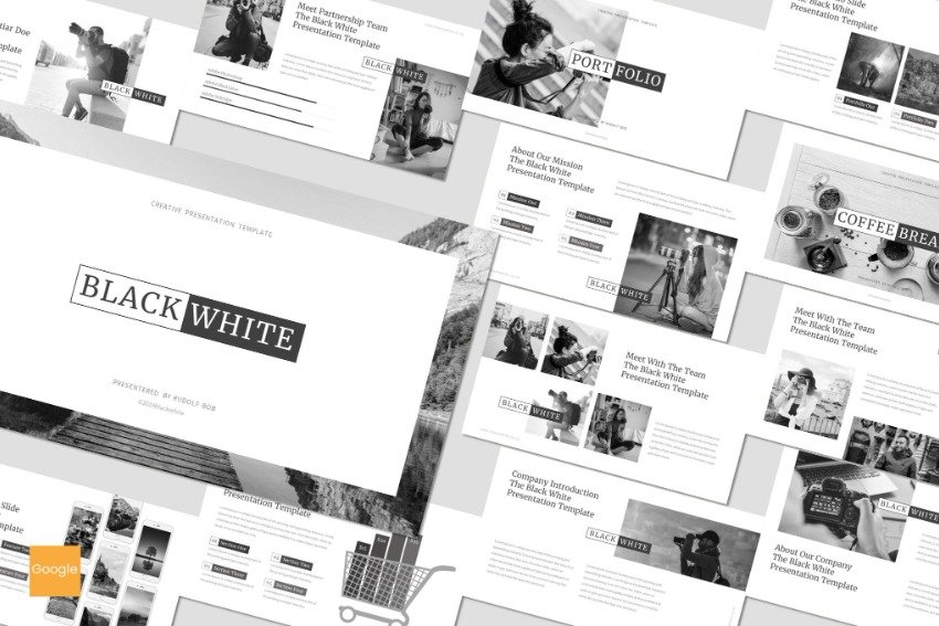 Black and White Simple Google Slides Template