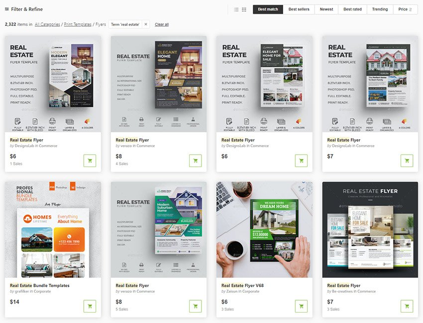 Real Estate Flyer Templates From GraphicRiver