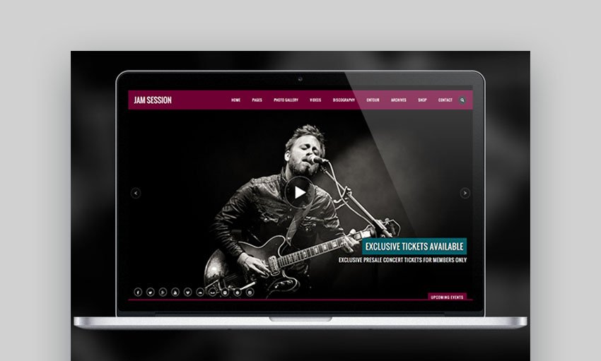 JamSession Music Portal WordPress Theme