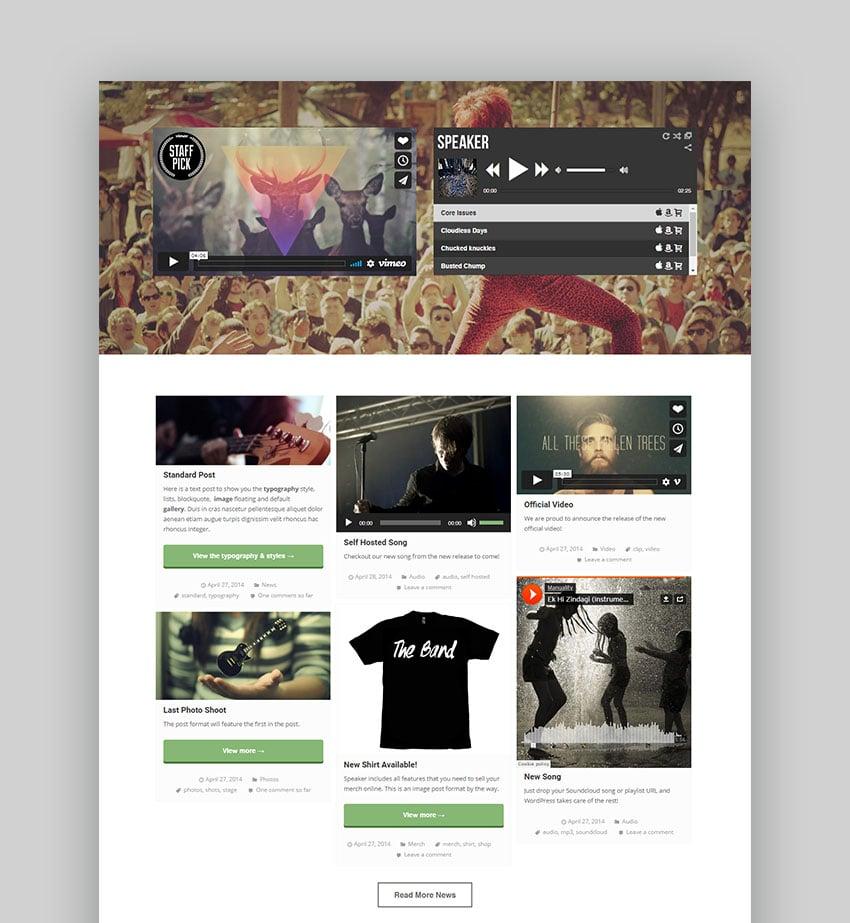 Speaker Music Producer WordPress Theme