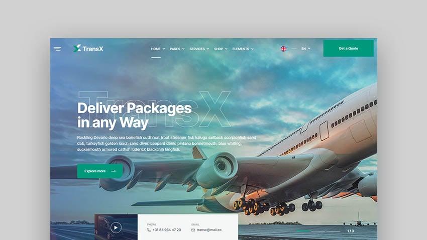 TransX Logistic Transport WordPress Theme