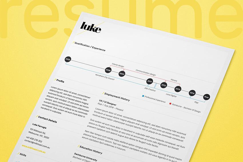 One Page Visual CV
