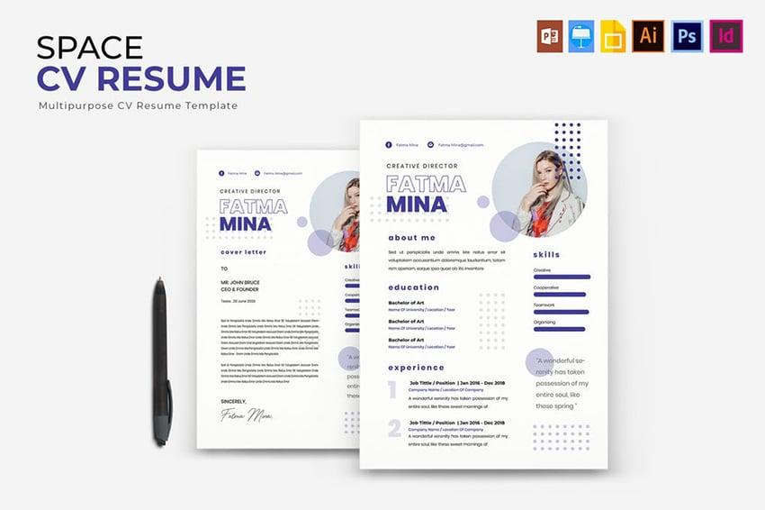 White Space CV Resume