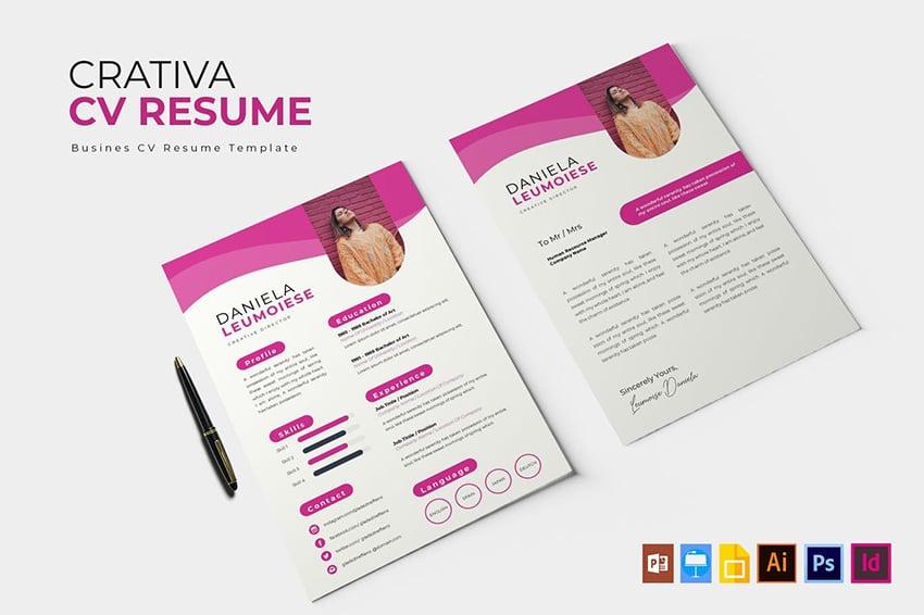 Vibrant Monochrome Resume CV