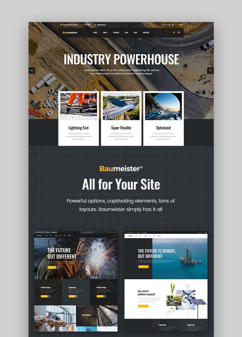 Baumeister - Industrial Template WordPress