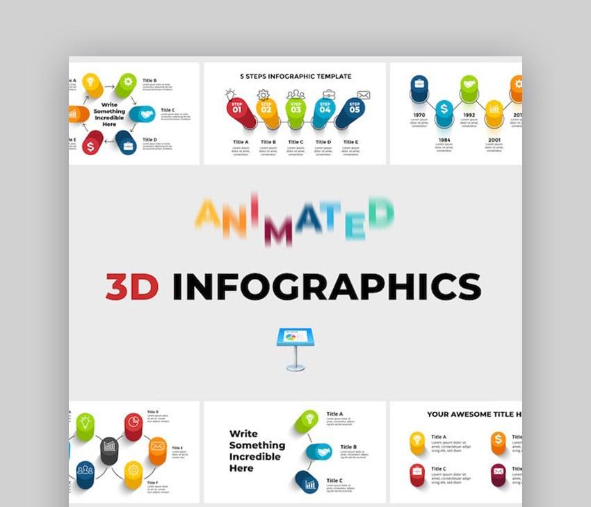 3D Animated Roadmap Keynote Timeline Template