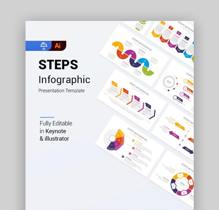 Steps Create Timeline in Keynote Template