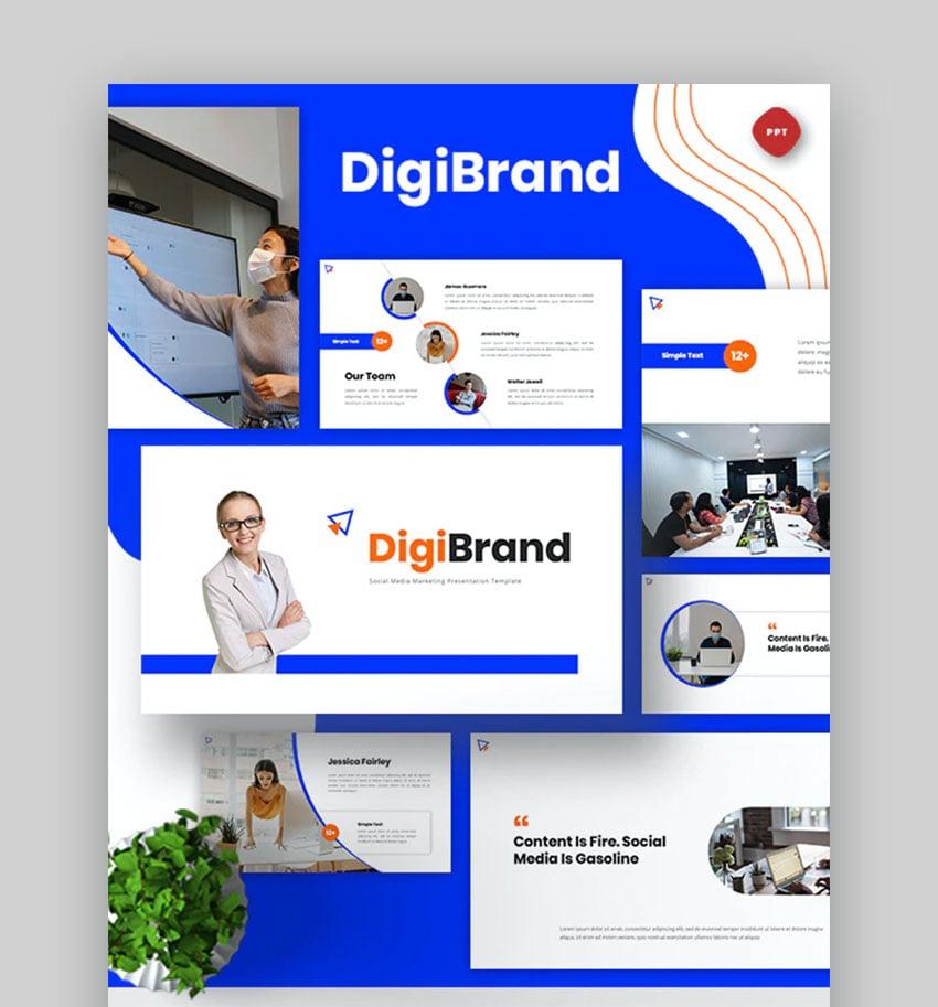 DigiBrand Social media marketing PPT template