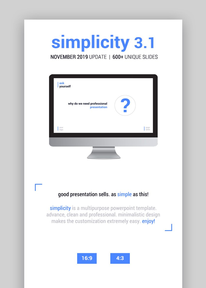 Simplicity Amazing PowerPoint Presentation