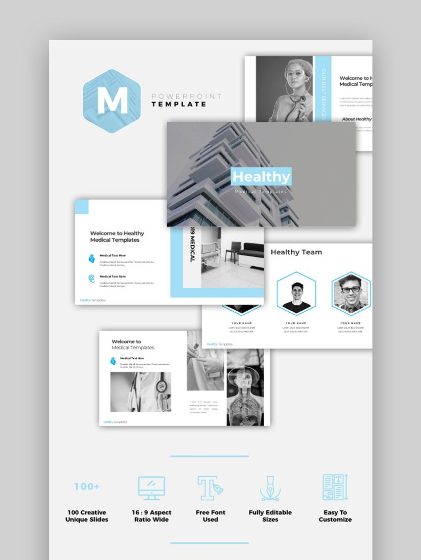 Healthy Hospital PPT Template