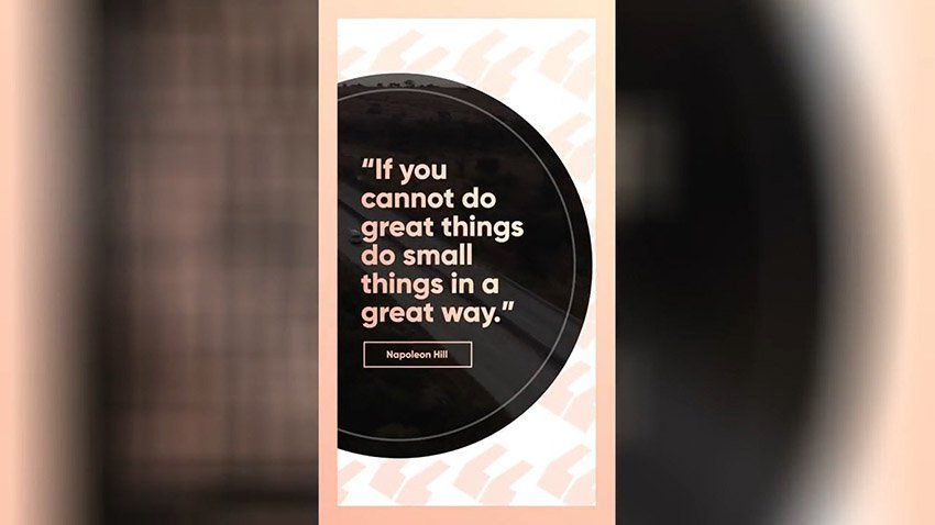 Animated Round Quote Free Premiere Pro Instagram Story Template