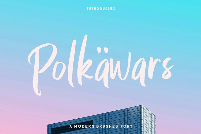 Polkawars Hand Writing Font Sans