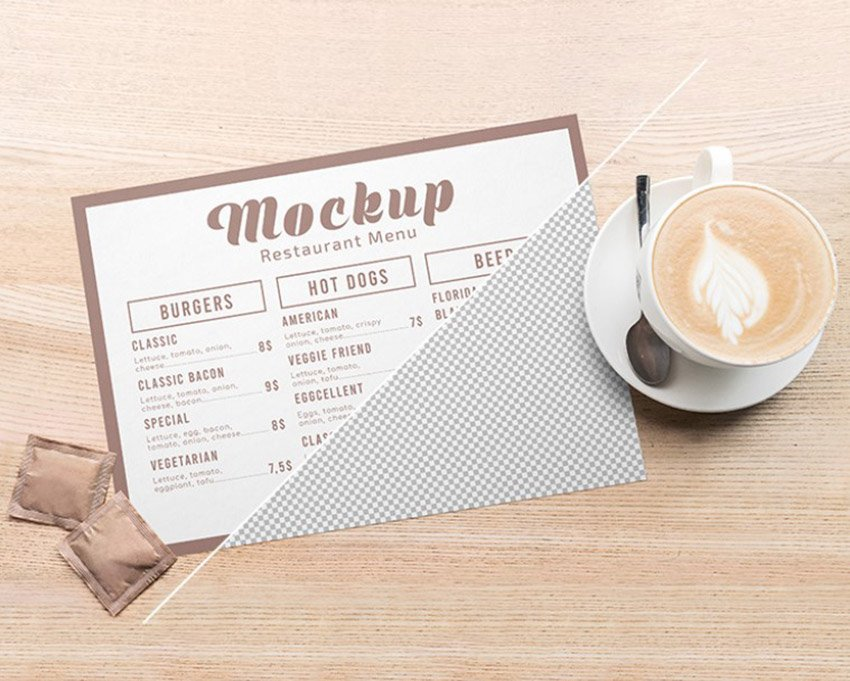 Menu Card Mockups