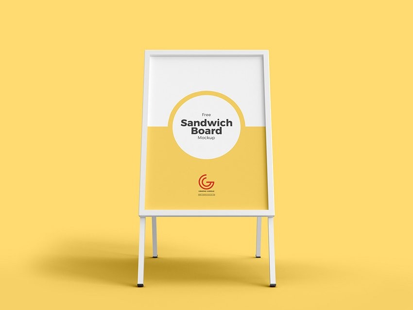 Yellow Restaurant Signboard Sample