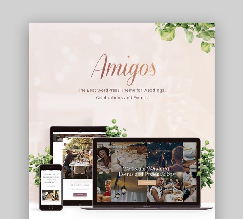 Amigos Wedding Planner Template WordPress