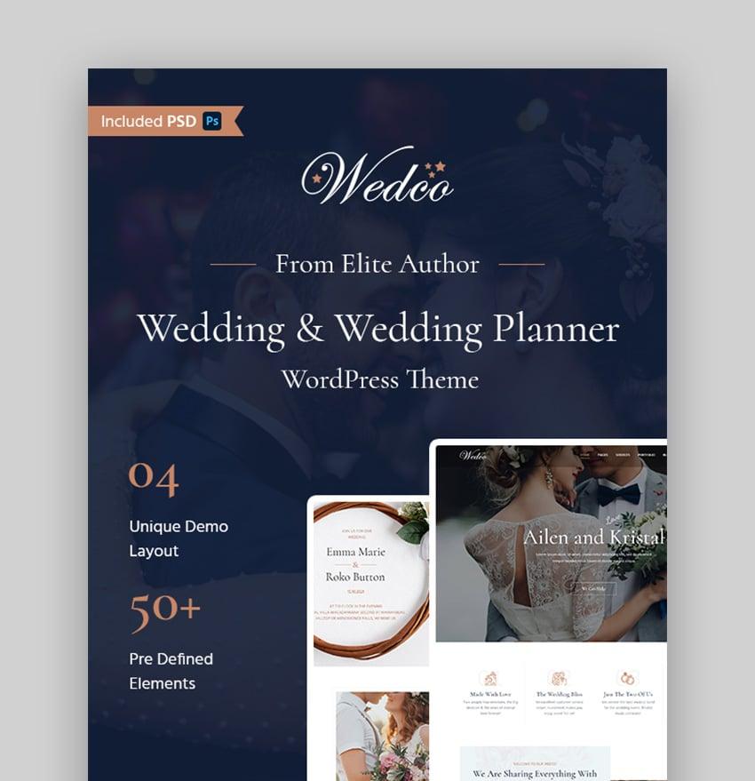 WedCo Wedding Planner Theme WordPress