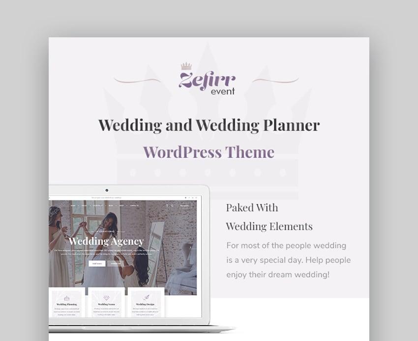 Zefirr Best WordPress Theme for Event Planners