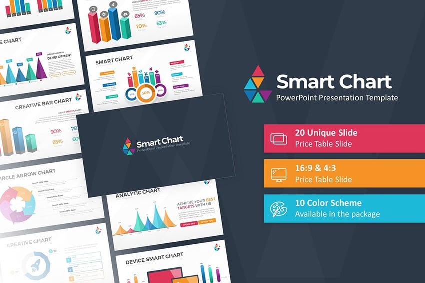 Smart Chart PPT Slide Design Download