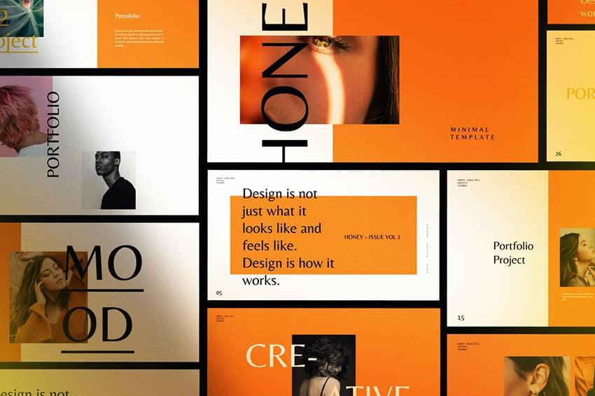 Honey Creative Fashion PPT Presentation