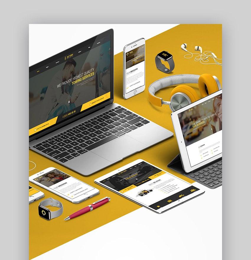Towy Taxi Booking WordPress Theme