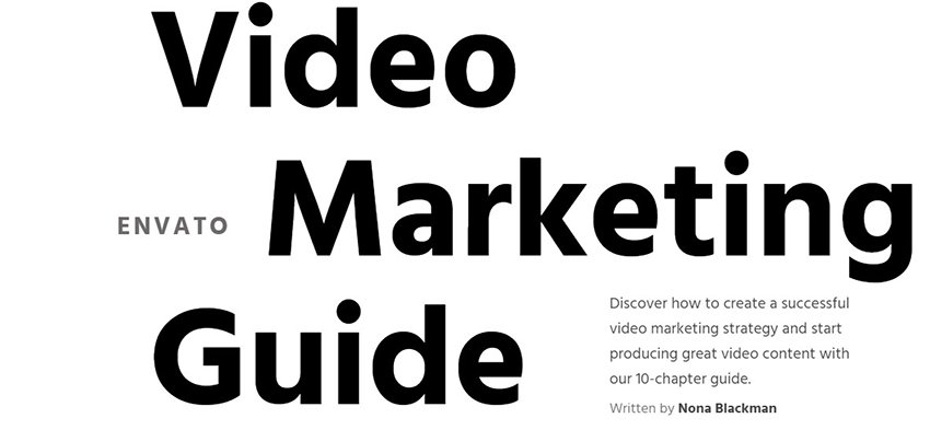 Envato Video Marketing Guide