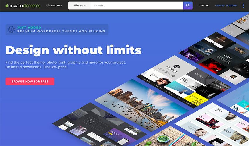 Envato Elements Design ohne Grenzen