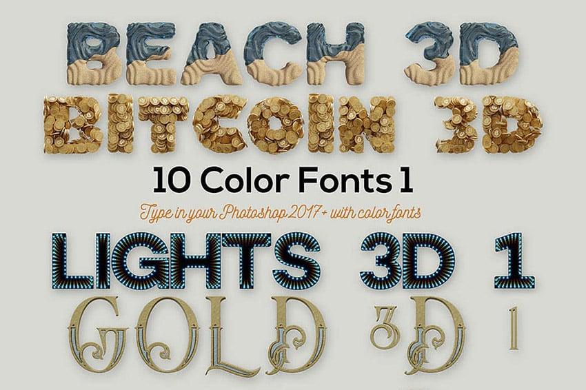 10 Opentype SVG Color Fonts