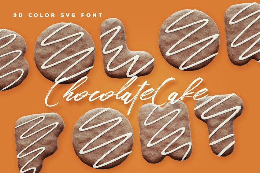 Chocolate Cake Color Font