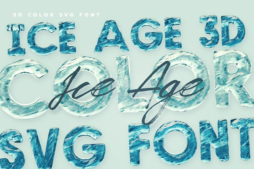 Ice Age Opentype SVG Color Fonts