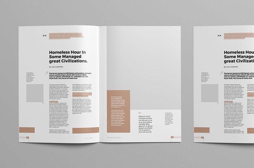Sociale Magazine Spread Design