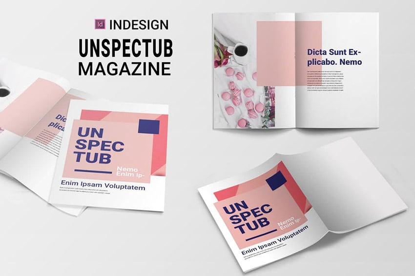 Unspectub Vector Magazine Cover Ideas