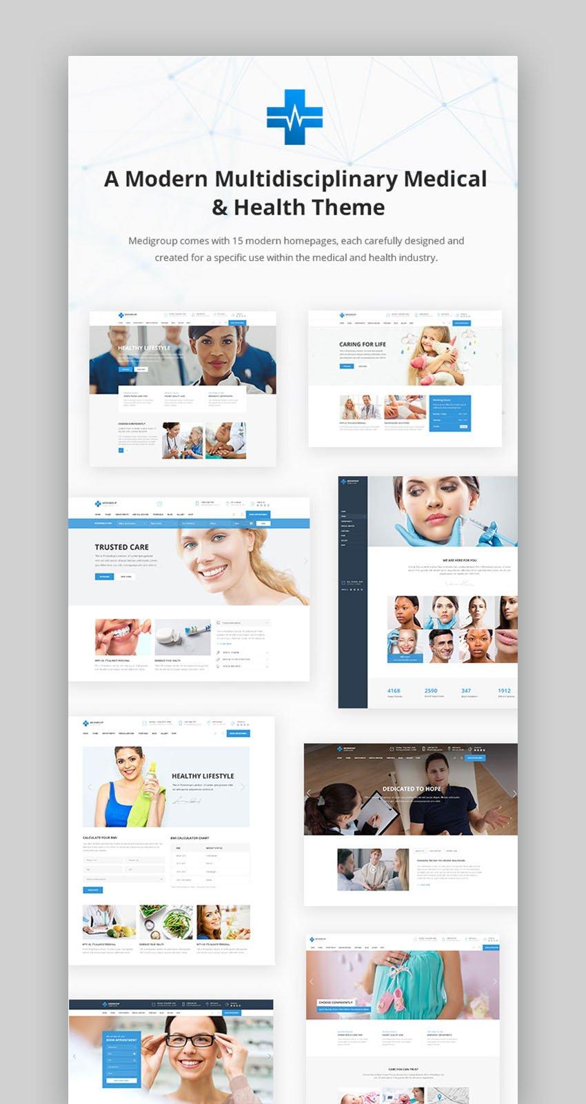 Medigroup Arzttermin WordPress Theme