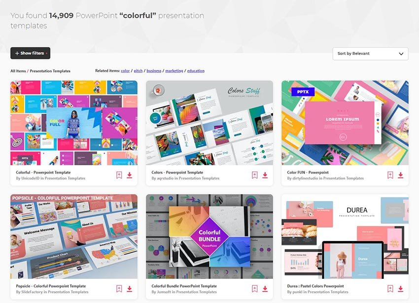 Envato Elements Fun PowerPoint Slides